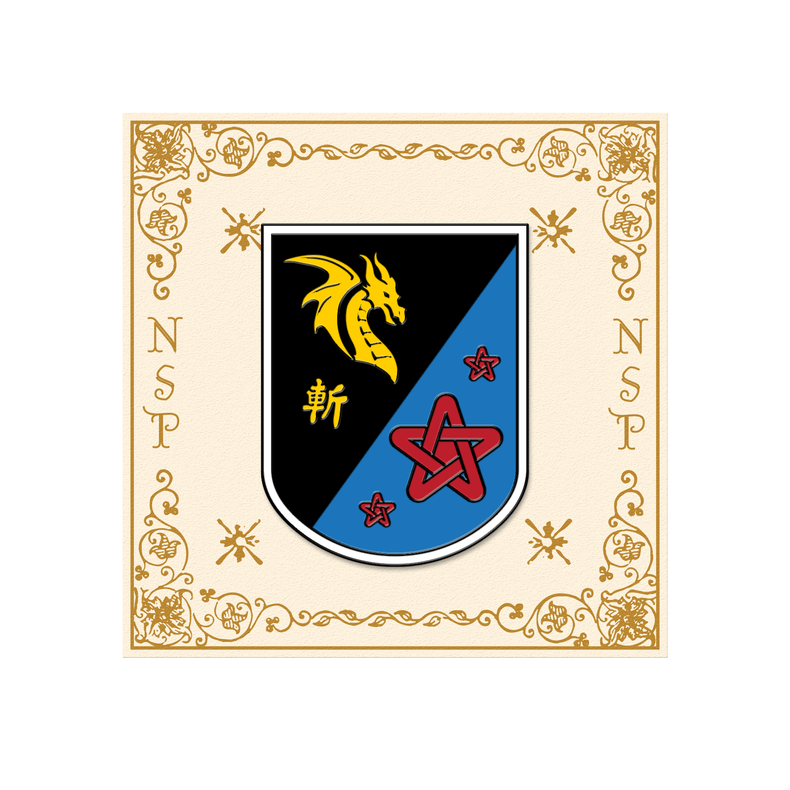 Medieval Flag Pin