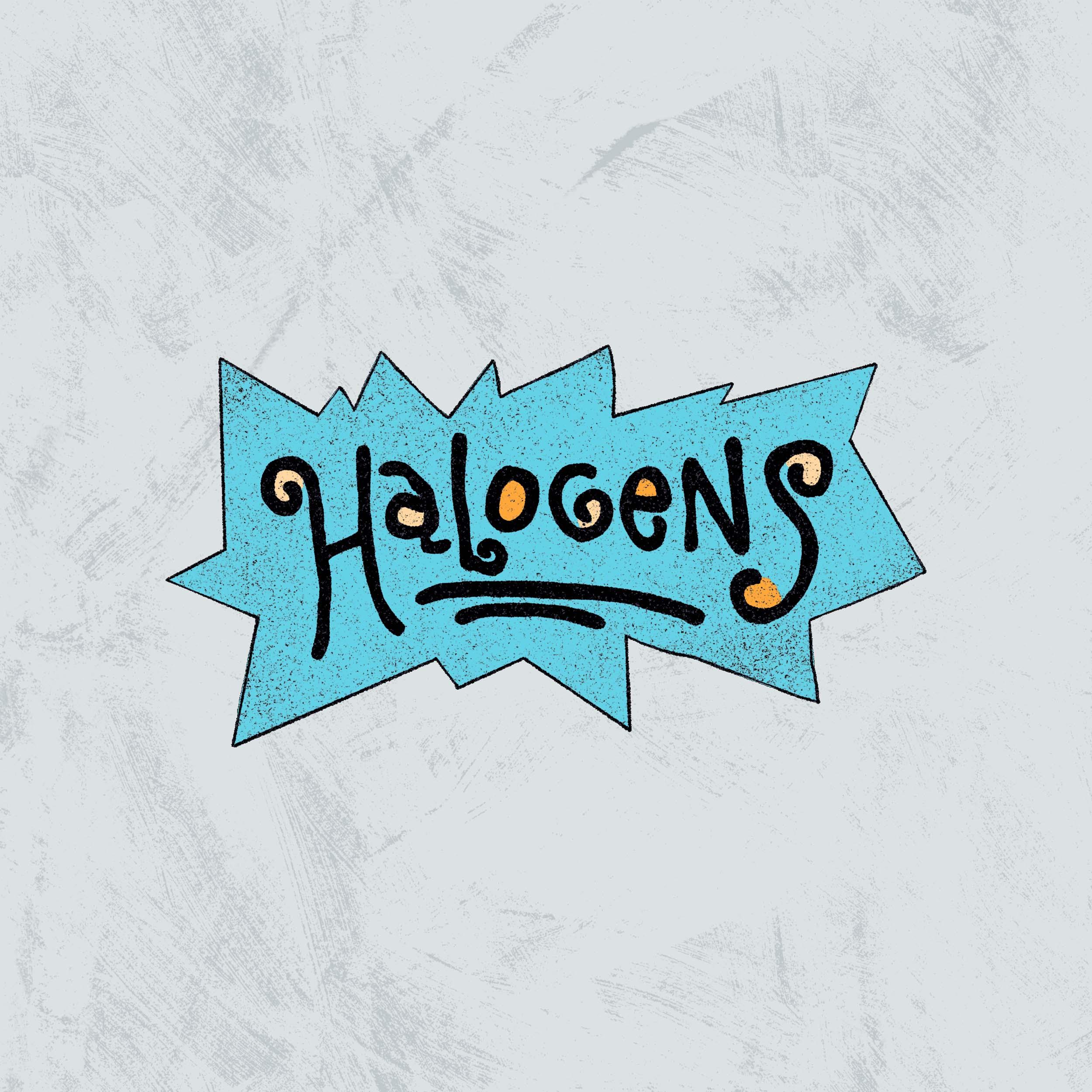 Halogens - Rugr*ts Sticker
