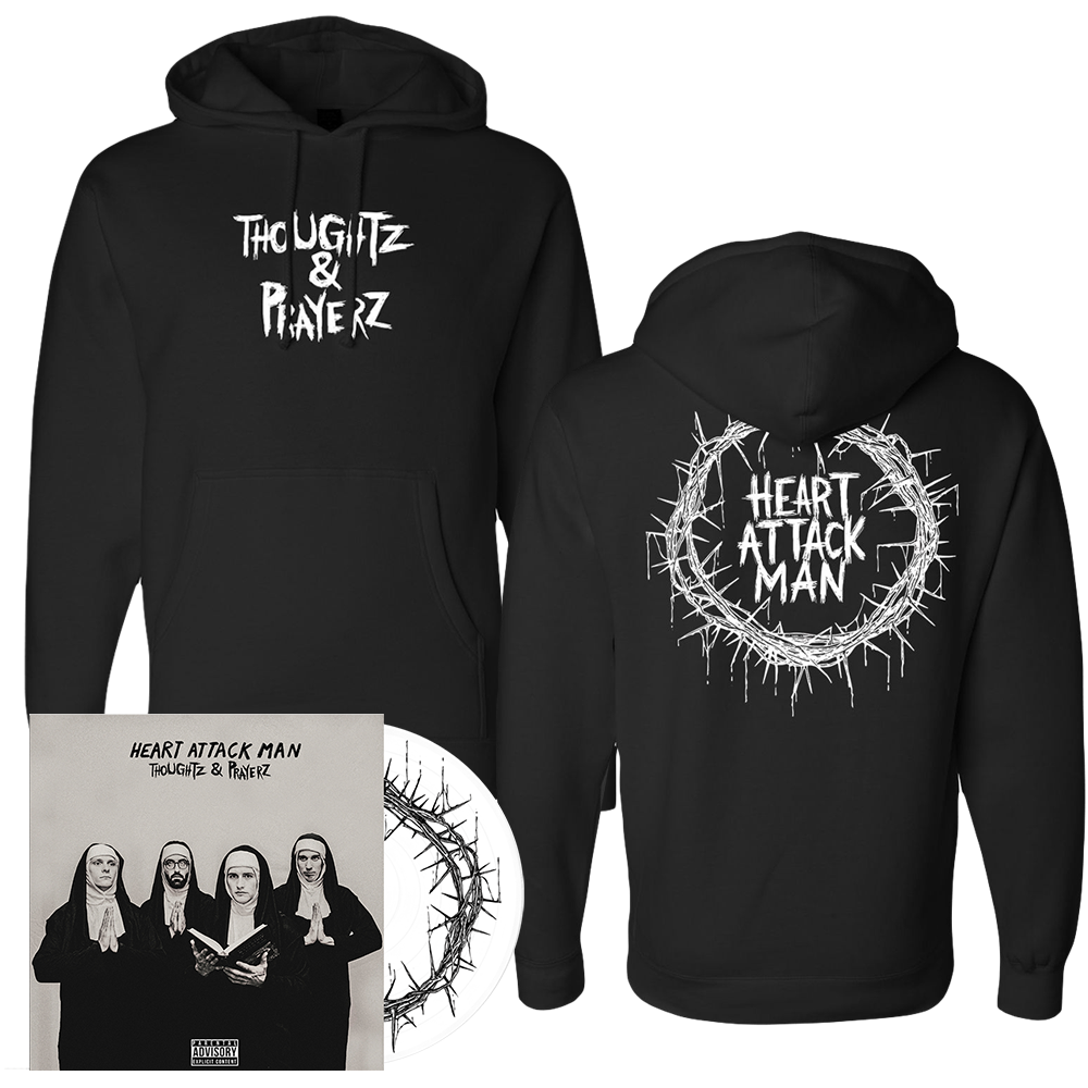 Heart Attack Man - Thoughtz & Prayerz White Vinyl + Hoodie