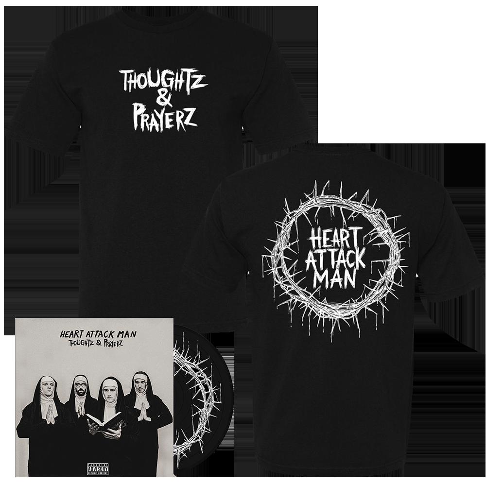 Heart Attack Man - Thoughtz & Prayerz Black Vinyl + Tee