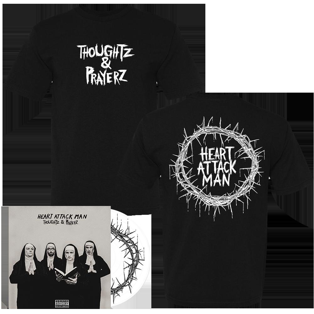 Heart Attack Man - Thoughtz & Prayerz White Vinyl + Tee