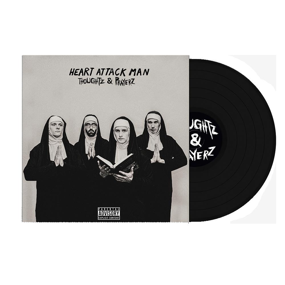 Heart Attack Man - Thoughtz & Prayerz Black Vinyl + Hoodie