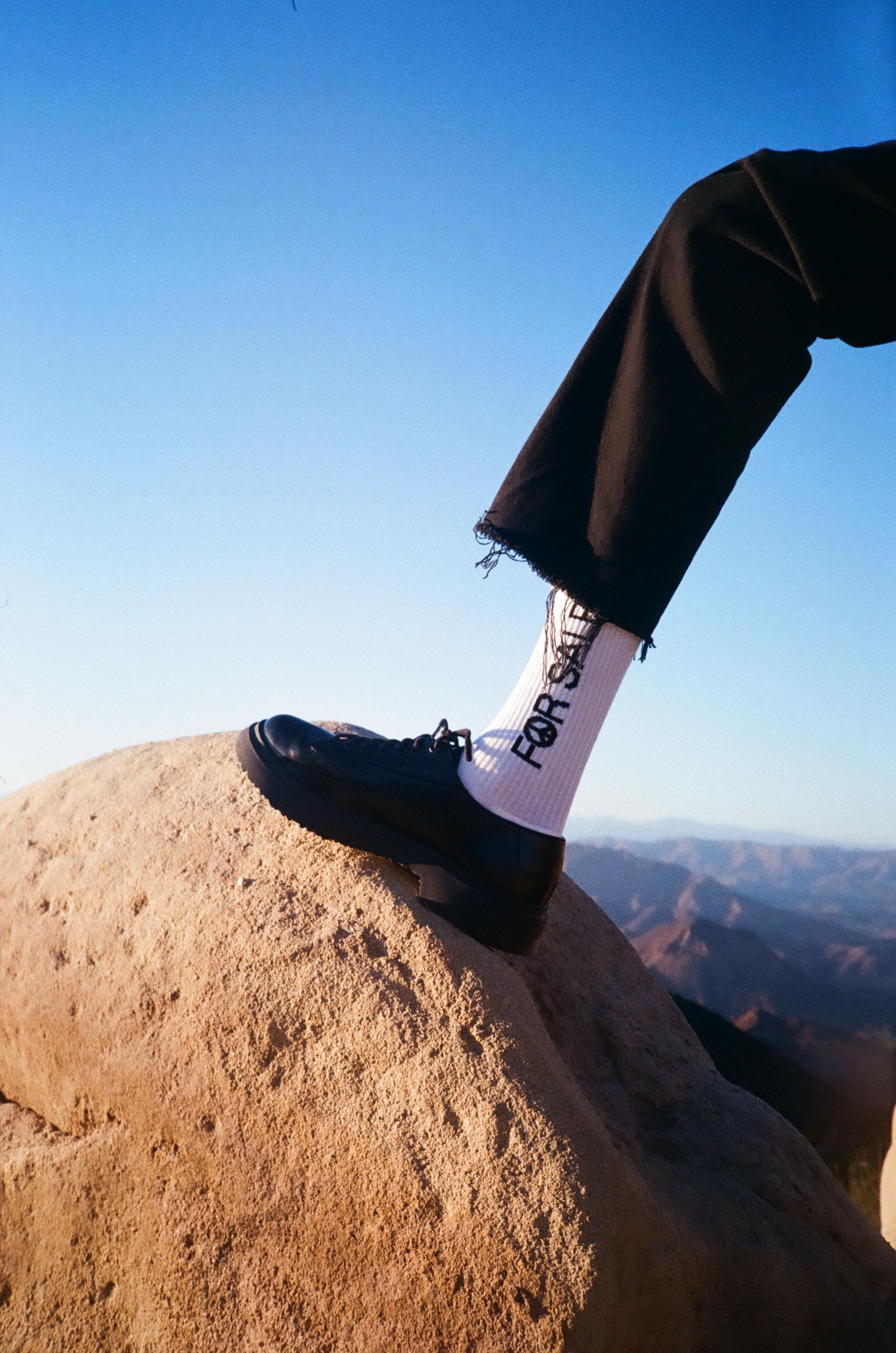 Hope For Sale Socks - White